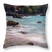 Rocky Seashore Throw Pillow