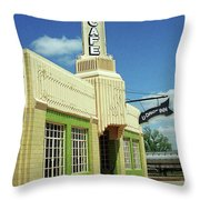 Route 66 - Conoco Tower Station Throw Pillow