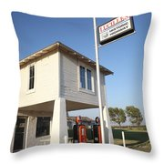Route 66 - Lucille's Gas Station Throw Pillow