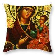 Saint Mary Christian Art Throw Pillow