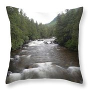 Sainte-anne River, Quebec Throw Pillow