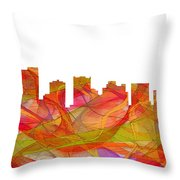 Scottsdale Arizona Skyline Throw Pillow