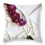 Silk Flower Throw Pillow
