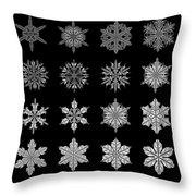 Snowflake Simulation Throw Pillow