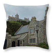 St Michael's Mount Cornwall Throw Pillow