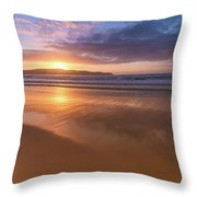 Sunrise Seascape At The Beach Throw Pillow