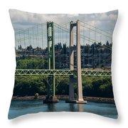 Tacoma Narrows Bridge Throw Pillow