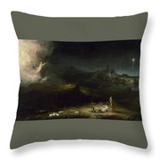 The Angel Appearing To The Shepherds Throw Pillow