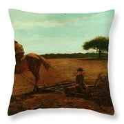 The Brush Harrow Throw Pillow