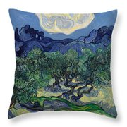 The Olive Trees Throw Pillow