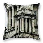 The Rhode Island State House On Capitol Hill In Providence Throw Pillow