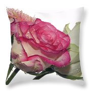Three Flowers Throw Pillow