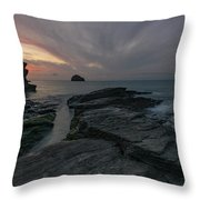 Trebarwith Strand - Cornwall Throw Pillow