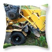 Tree Stump Machine. Throw Pillow