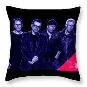U2 Collection Throw Pillow