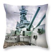 Uss Alabama Throw Pillow