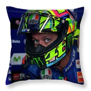 Valentino Rossi The Doctor  Throw Pillow