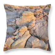 Valley Of Fire Sunrise Throw Pillow