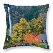 View Of Oregon Throw Pillow