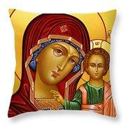 Virgin And Child Christian Art Throw Pillow