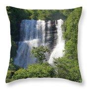 Waterfall In Geiranger Norway Throw Pillow