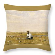 Whistling For Plover Throw Pillow
