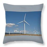 Wind Turbine Farm Throw Pillow
