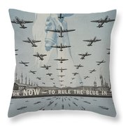 World War II Advertisement Throw Pillow
