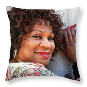 African American Female. Throw Pillow