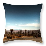 G H Landscape Throw Pillow