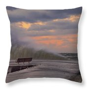 60 Mph Throw Pillow