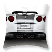 60th Anniversary Corvette Throw Pillow
