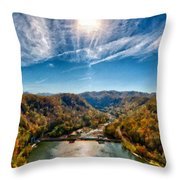 G H Landscape Throw Pillow