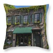 61 Queen Street In Charleston Throw Pillow