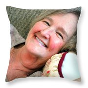 Mature Female Beauty. Throw Pillow