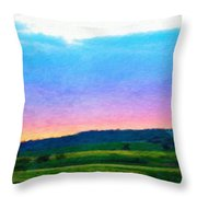 Nature Landscape Artwork Throw Pillow
