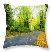 Nature Painted Landscape Throw Pillow