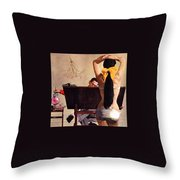 A Partner In Productive Advertising Alfred Parker Throw Pillow
