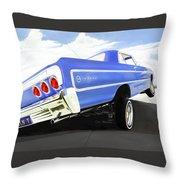 64 Impala Lowrider Throw Pillow