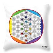 64 Tetra Chakra Activation Grid Throw Pillow