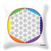 64 Tetra Flower Of Life Throw Pillow