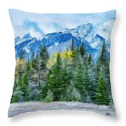 Nature Landscape Nature Throw Pillow