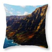 Nature Work Landscape Throw Pillow
