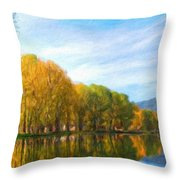 Landscape Art Nature Throw Pillow