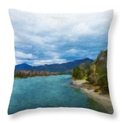 Nature Landscape Light Throw Pillow