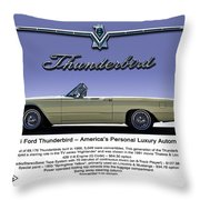 '66 Thunderbird Convertible Throw Pillow