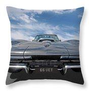 66 Vette Stingray Throw Pillow