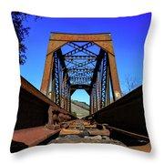 6696 Railroad Bridge Throw Pillow