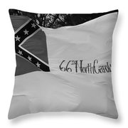66th North Carolina Throw Pillow