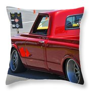 '67 Chevy C10 Awaits Green Light Throw Pillow